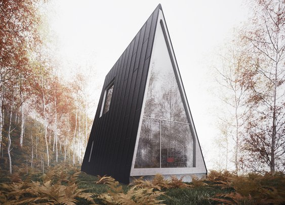 An Ultra-Minimalist Cabin Takes A-Frames To The Limit