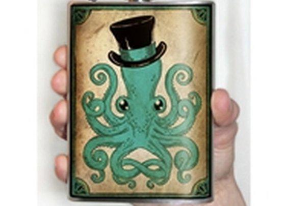 Gentleman Octopus Flask