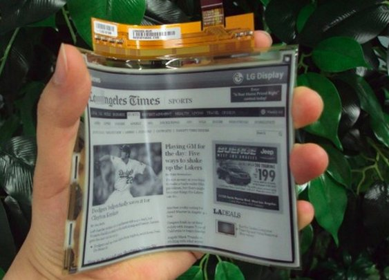 LG's Flexible E-Paper Display Is Coming to Europe in April