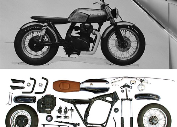 Custom Motorcycles by Ellaspede