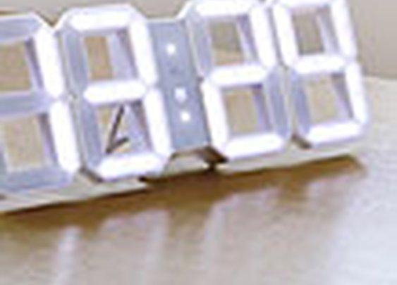 Kibardindesign White & White LED Clock