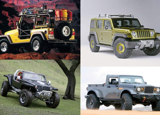 Twenty Five Great Jeep Concepts From The Past