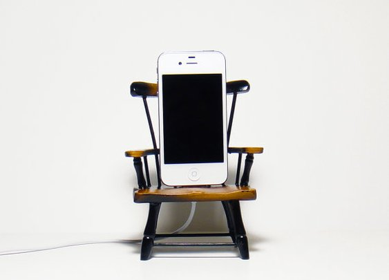 Wooden Gnome Chair Charger  for iPhone and iPod
