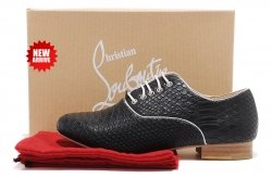 Christian Louboutin Sneakers Fred Snake Pattern Shoes Black