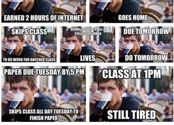 Lazy College Senior Time