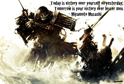 Today is victory over yourself of yesterday...