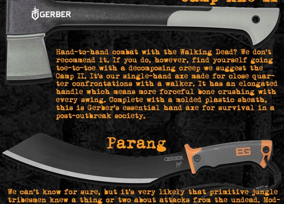 Gerber Apocalypse Kit Infographic at OutdoorPros.com