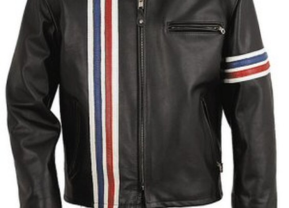 Schott Leather Easy Rider Striped Jacket 671 X-Large Sizes .      Union Made in the U.S.A