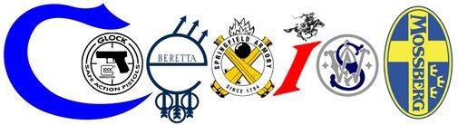 Coexist In Firearm Manufacturer Logos