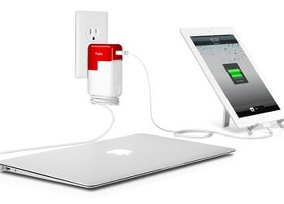 PlugBug All-in-One Dual Charger for MacBook and iPad, iPhone, or iPod