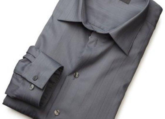 Kenneth Cole Reaction Men's Spread Collar Tonal Solid Woven Shirt