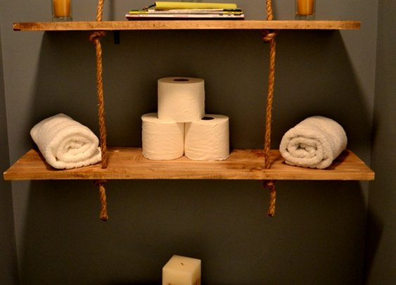 Rustic Rope Shelves