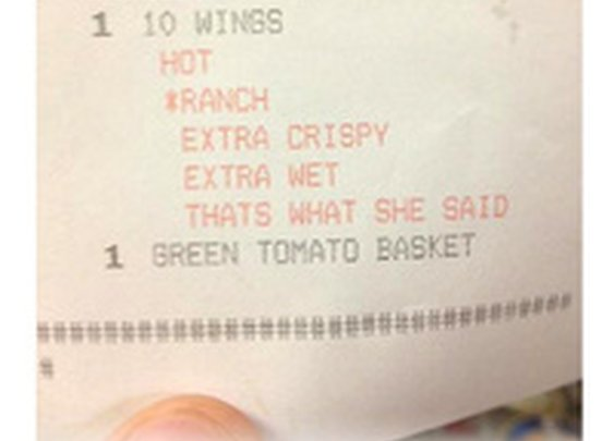 "This ""That's What She Said"" Receipt Is Funnier Than Any Stupid April Fools"