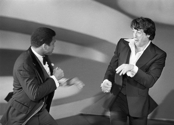 """ali confronts stallone; brings him """"out of the closet"""" in 2 seconds"""