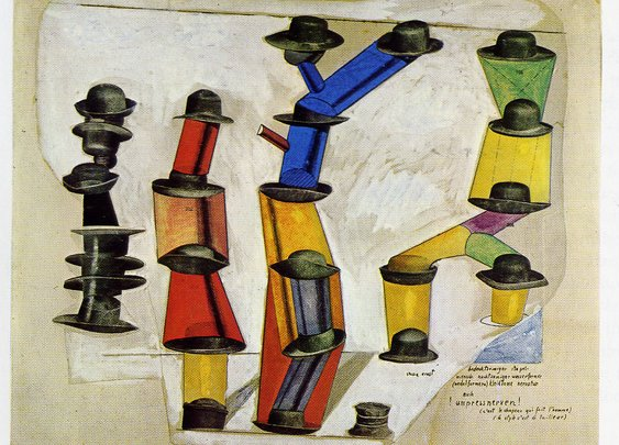 """""""the hat makes the man"""" max ernst. 4.2.1891"""