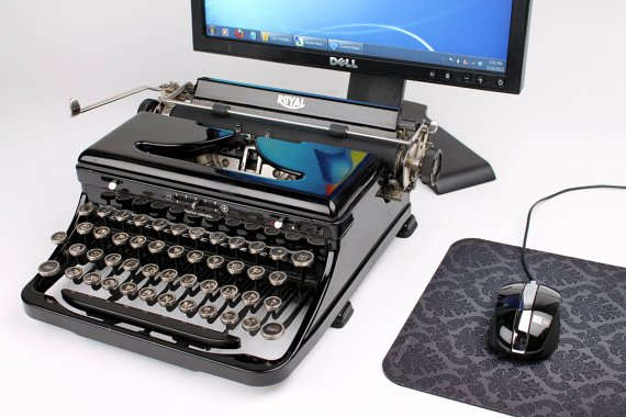USB Typewriter Computer Keyboard  gorgeous royal by usbtypewriter