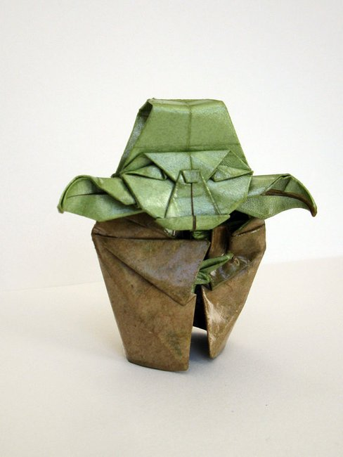 FIGURINE origami yoda sculpture by catamation on Etsy
