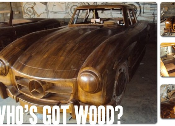 Full-Size Mercedes-Benz Made Entirely Out Of Wood