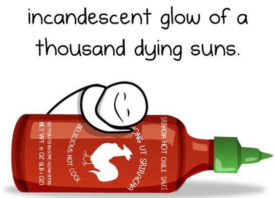 Dear Sriracha Rooster Sauce - The Oatmeal