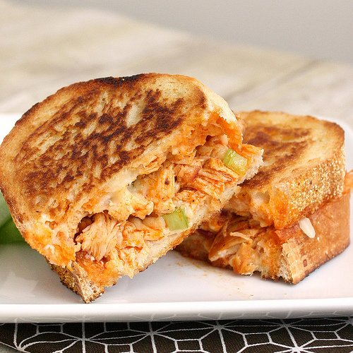 Tracey's Culinary Adventures: Buffalo Chicken Grilled Cheese