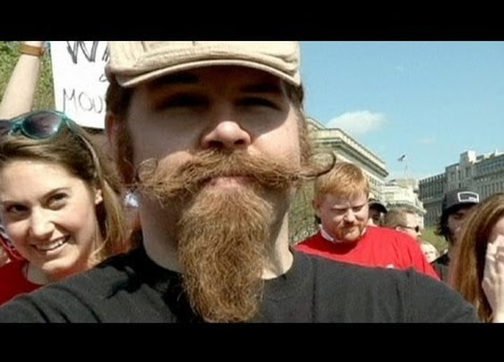 """Million Mustache March"" hits Washington DC"