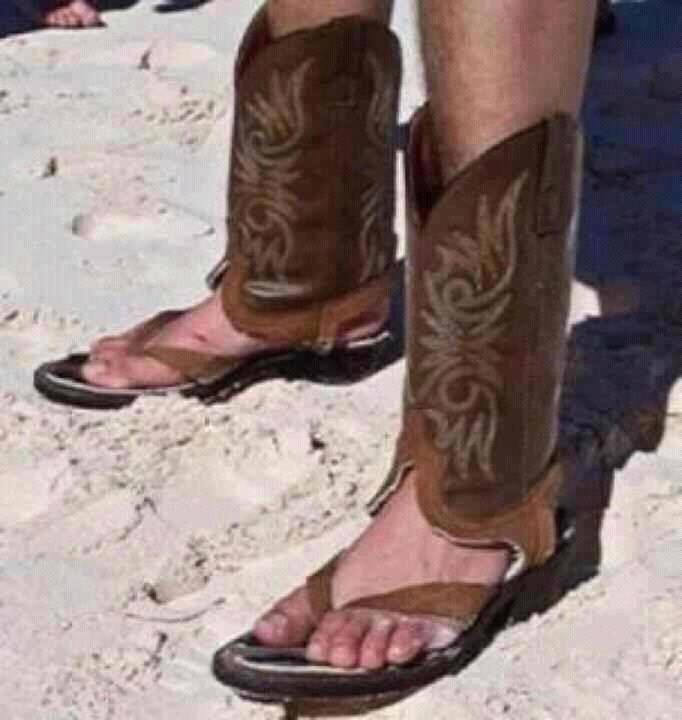 A Real Pair of Cowboy Mandals