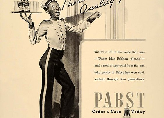 Slightly Racist Vintage Pabst Blue Ribbon Ad | Ministry of Alcohol
