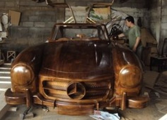 Retro Mercedes-Benz Carved Entirely Out Of Wood [Pics] @PSFK