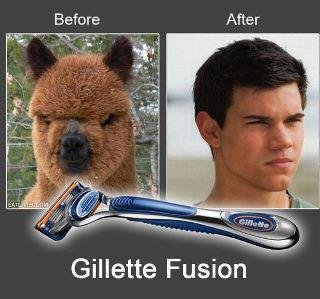 Gillette. The best a man can get,)