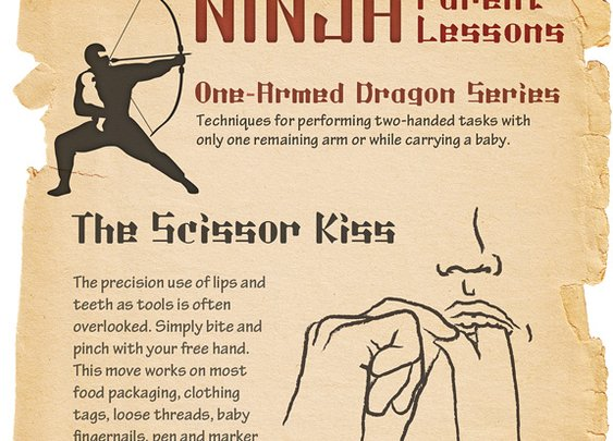 Ninja Parent Lessons: The Scissor Kiss
