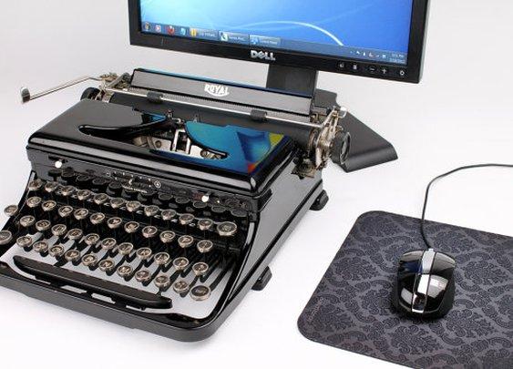 USB Typewriter Computer Keyboard  gorgeous royal by usbtypewriter