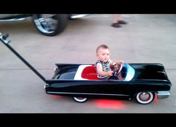 Brady Cash Custom Cadillac Baby Stroller      - YouTube