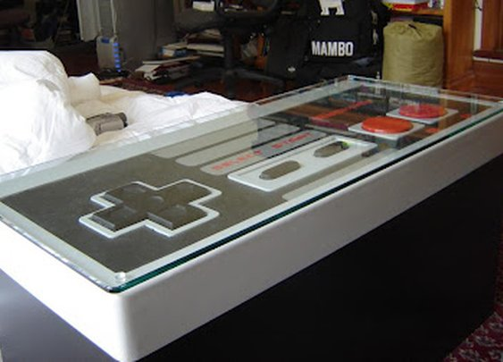 Ultra Awesome: NES coffee table