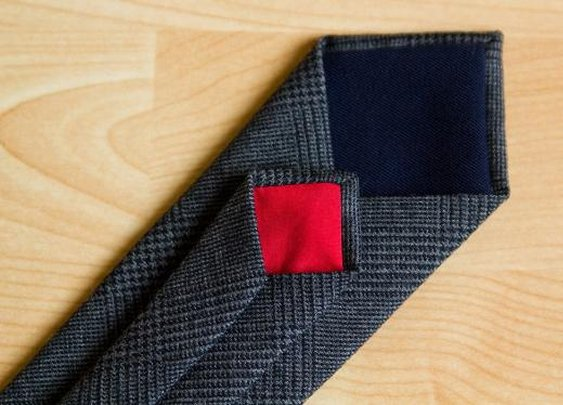 Fifth&Brannan | Charcoal Gray Glen Plaid Necktie