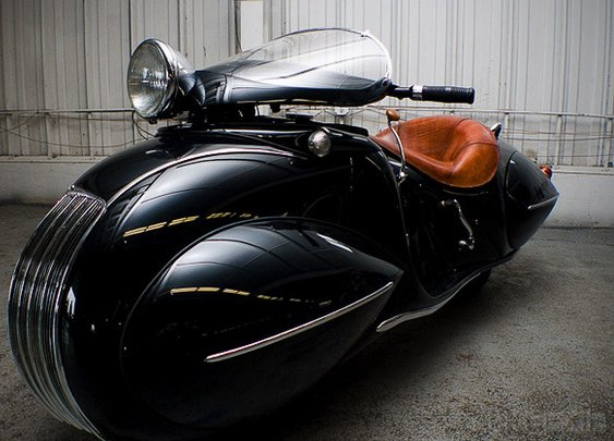 Art deco custom motorcycle
