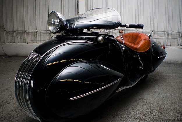 Art deco custom motorcycle