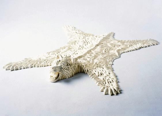 Rubber Bearskin Rug