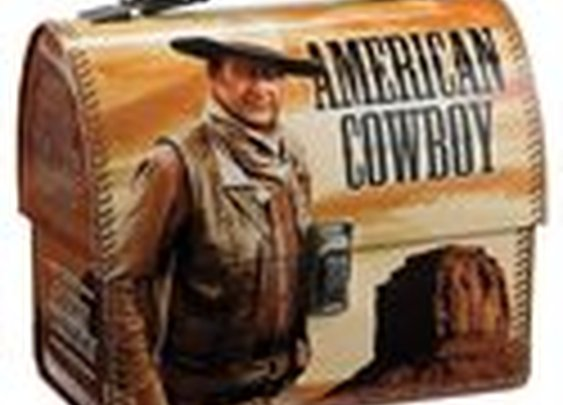John Wayne American Cowboy Retro Lunch Box