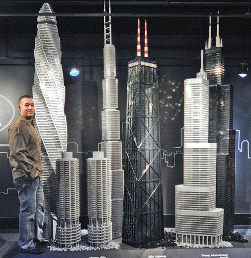 11 Skyscrapers Built From 15.5-Million LEGO Blocks