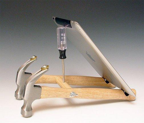 Repurposed Tool iPad Stand