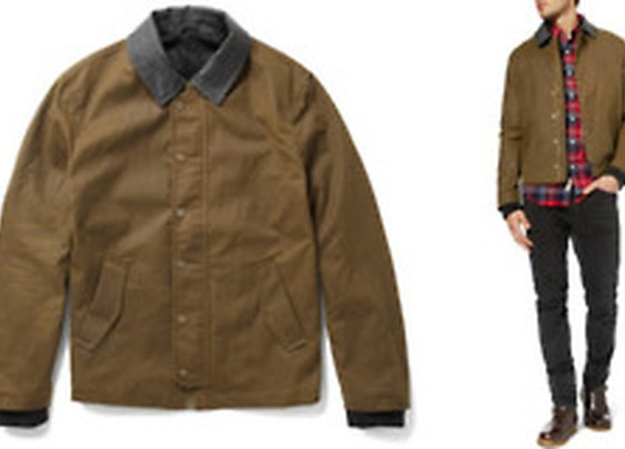 AMI - Waxed Cotton Jacket Light brown waxed...
