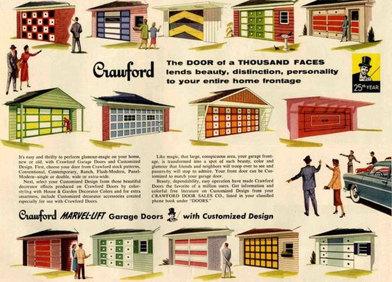 For the Home / Painting a garage door, the MCM way.