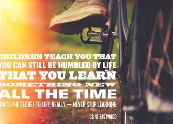 What children teach you...
