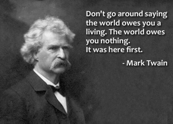 Advice on the World from Mark Twain