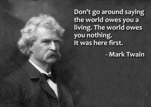 Advice on the World from Mark Twain