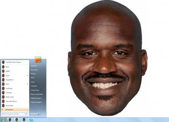 Ridiculous Shaq Desktop Theme