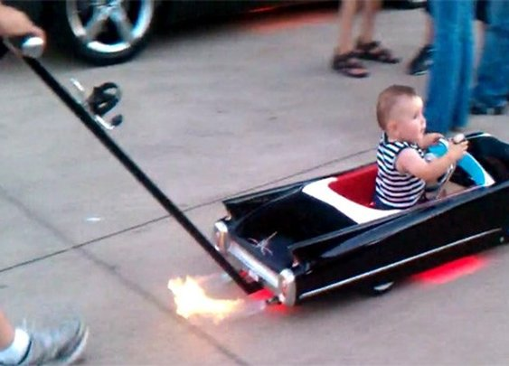 Custom Cadillac baby stroller leaves us feeling cheated about our childhoods