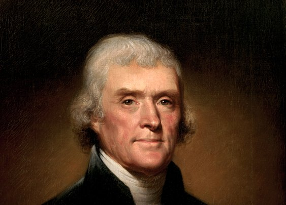 thomas jefferson. 4.13.1743 by rembrandt peale, 1800