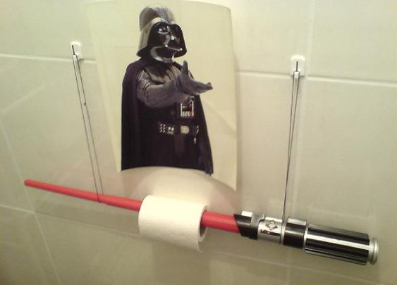 Lightsaber Toilet Paper Holder