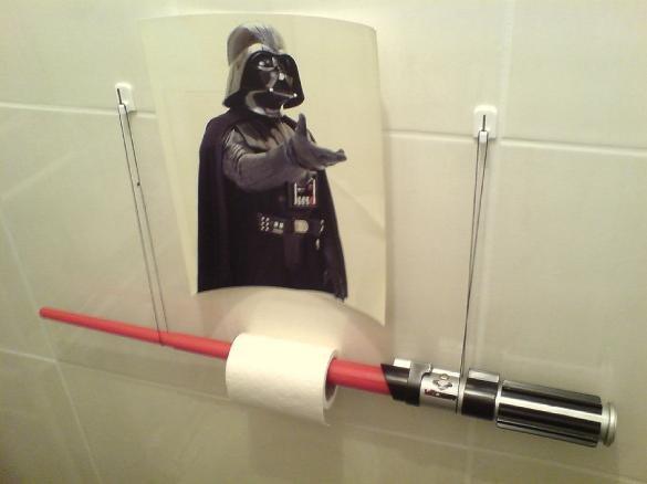 Lightsaber Toilet Paper Holder